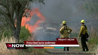 Prescribed burns underway - Video