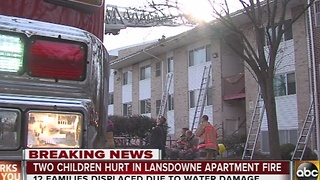 2 children hurt in Lansdowne fire - Video