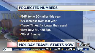 Holiday travel season gets underway