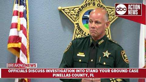 """Pinellas Sheriff updates ongoing investigation into """"Stand Your Ground"""" shooting 