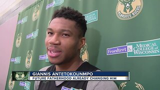 Baby Antetokounmpo already changing Giannis