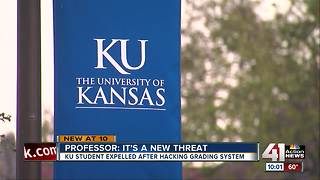 KU student expelled for hacking, changing grades - Video