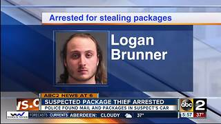 Police arrest suspected package thief - Video