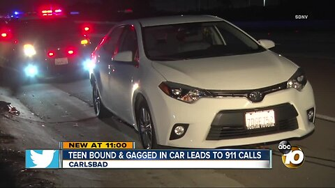 Teen bound and gagged in car leads to 911 calls