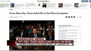 NYT: President Trump asked Comey to kill FBI probe - Video