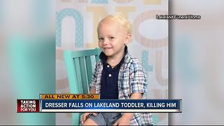 Lakeland toddler dies after dresser falls on him - Video