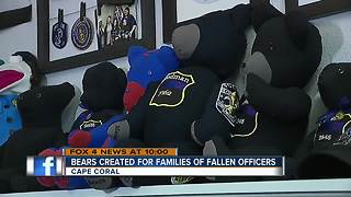 Cape Coral girl turns fallen officer uniforms into bears - Video