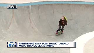 Tony Hawk, Ralph Wilson Foundation team up for new skate parks in Michigan