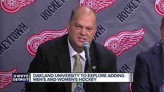Oakland University working with NHL to potentially add hockey programs to school - Video