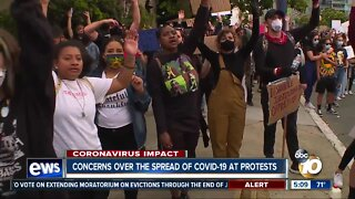 Concerns over the spread of COVID-19 at protests