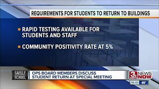 OPS board members discuss student return at special meeting