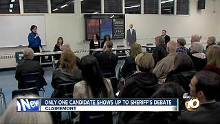 Only one candidate shows up to Sheriff's debate - Video