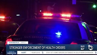 Stronger enforcement of health orders