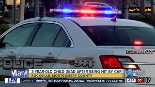 3-year-old dies after being struck by SUV in bank parking lot