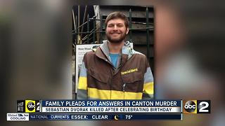 Friend, community plead for answers in murder of Sebastian Dvorak - Video