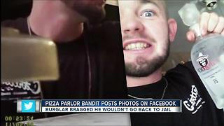 Serial pizza parlor burglar arrested after posting evidence to social media - Video