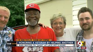 Family honors veteran by helping another - Video