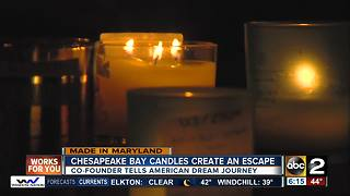 Made in Maryland: Providing an escape, Chesapeake Bay Candles heal - Video
