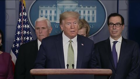 Full news conference: Trump administration discussing sending cash to Americans as part of stimulus package