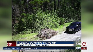 Illegal dumping piling up in Lehigh Acres