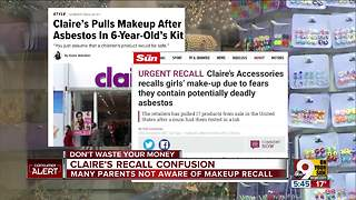 Parents confused over Claire's makeup recall - Video