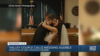 Valley couple moves wedding day up amid coronavirus scare