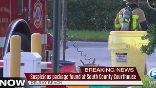 Suspicious package found at South County Courthouse - Video