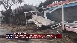 Emergency groups stretched thin after natural disasters - Video