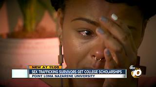 Sex trafficking survivors get college scholarships - Video