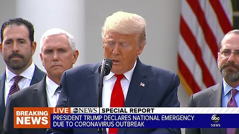 President Trump declares national emergency over coronavirus
