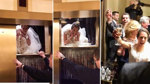 Unlucky Bride Got Stuck In An Elevator On The Day Of Her Wedding