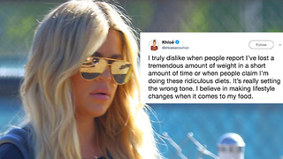 Khloe Kardashian SNAPS At Haters Calling Her UNHEALTHY! - Video
