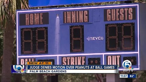 Judge denies motion over peanuts at baseball games in Palm Beach Gardens