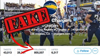 LA Chargers Caught Buying FAKE Followers - Video