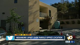 Neighbors upset over parole office location