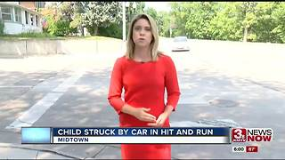 Child struck during hit-and-run - Video