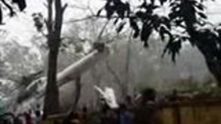 Military Helicopter Crash Lands in Eastern Bangladesh - Video