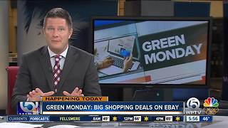 Stores offer 'Green Monday' deals - Video