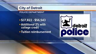 Detroit police looking to hire new officers - Video