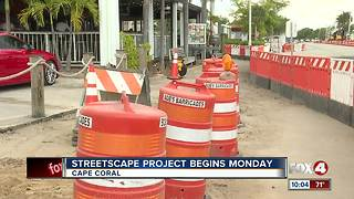 Traffic congestion increases as streetscape blocks roads Monday - Video