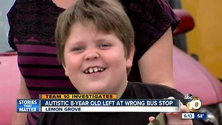 Boy with autism left at wrong bus stop - Video