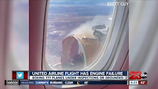 United Airline flight has engine failure, Boeing 777 planes under inspections or grounded