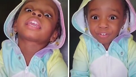 Little girl offers beautifully adorable affirmations for the camera