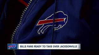 Bills fans ready to take on Jacksonville - Video