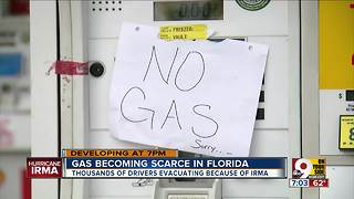 Gas becoming scarce in Florida - Video
