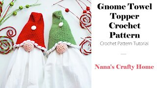 Gnome Crochet Towel Topper Tutorial