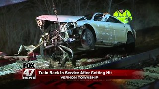 MSP: Suspected drunk driver crashes into train