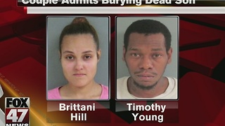 Couple that buried their dead child in the backyard pleads guilty