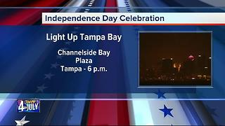 Independence Day Celebration in Channelside Bay Plaza | Light Up Tampa Bay - Video