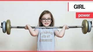 Britain's youngest weightlifter bench pressed almost twice her own body weight